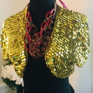 Glam Gold Sequin Shrug